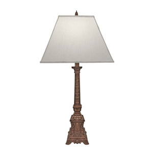 Antique Old Brass One-Light Table Lamp