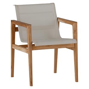 Coast Ivory Teak Arm Chair
