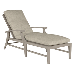 Croquet Aluminum Oyster Chaise Lounge with Linen Dove Cushion