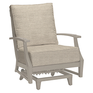 Croquet Aluminum Oyster Spring Lounge with Linen Dove Cushion