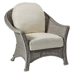 Regent Oyster Lounge Chair with Linen Dove Cushion