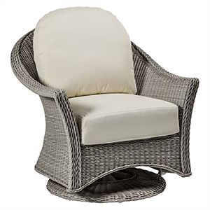 Regent Oyster Swivel Glider with Linen Dove Cushion