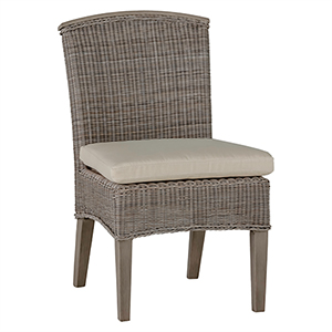 Astoria Oyster Side Chair with Linen Dove Cushion-Set of 2