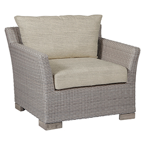 Club Woven Oyster Lounge Chair with Linen Dove Cushion