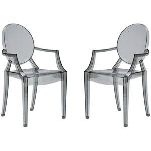 Nicollet Smoke Arm Chair, Set of Two