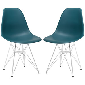 Nicollet Teal Side Chair, Set of Two