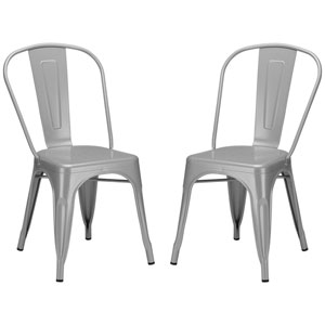 River Station Gray Side Chair, Set of Two