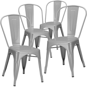 River Station Gray Side Chair, Set of Four