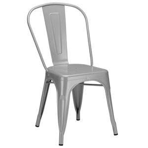 River Station Gray Side Chair