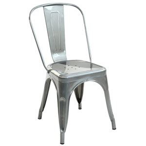 River Station Polished Gunmetal Side Chair