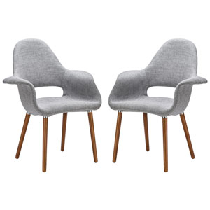 Loring Light Gray Dining Chair, Set of Two