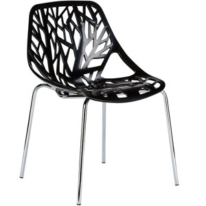 Uptown Black Side Chair