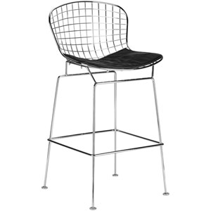Nicollet Black Counter Stool