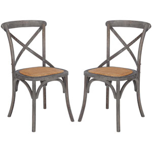 River Station Ash Gray Crossback Dining Chair, Set of Two