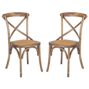 River Station Walnut Crossback Dining Chair, Set of Two