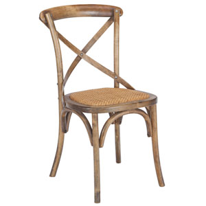 River Station Walnut Crossback Dining Chair