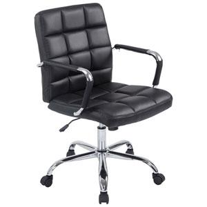 Linden Black Office Chair