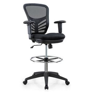 Loring Black Drafting Chair