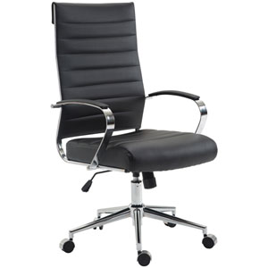 Nicollet Black High Back Office Chair
