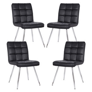 Nicollet Black Dining Chair, Set of Four
