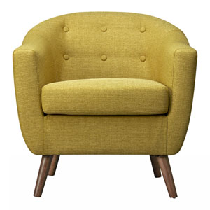 Loring Olive Green Accent Chair
