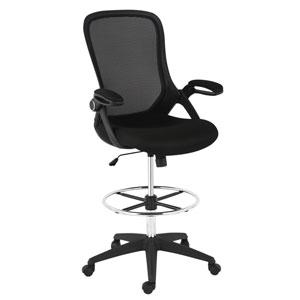 Loring Black Mesh Drafting Chair