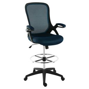 Loring Blue Mesh Drafting Chair