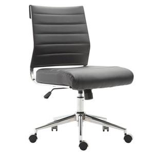 Nicollet Black Vegan Leather Task Chair