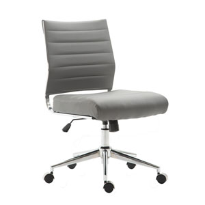 Nicollet Gray Vegan Leather Task Chair