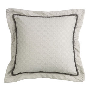 Piedmont Cream 18 In. X 18 In. Chain Link Throw Pillow