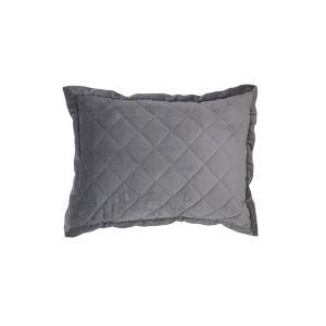 Velvet Diamond Gray 12 In. X 16 In. Quilted Throw Pillow