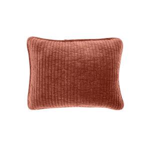 Stonewashed Velvet Salmon 12 In. X 16 In. Throw Pillow