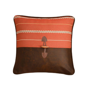 Carter Red and Brown 18 In. X 18 In. Envelope Throw Pillow