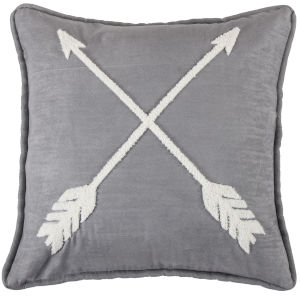 Free Spirit Gray and White 18 In. X 18 In. Arrow Throw Pillow