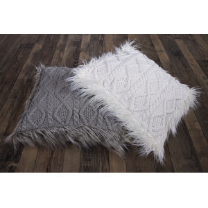 Nordic White 18 In. X 18 In. Cable Kniw Throw Pillow