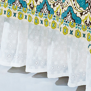Eyelet White Twin Bed Skirt