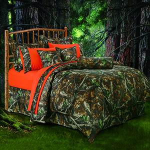 Oak Camo Twin Five-Piece Comforter Set