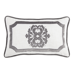 Madison White and Grey 16 x 26 In. Throw Pillow