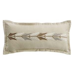 Belmont Tan Embroidered 11 x 26 In. Throw Pillow