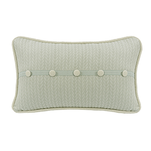 Belmont Green 13 x 22 In. Throw Pillow with Buttons
