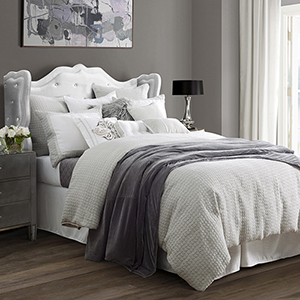 Wilshire Light Grey Super King Four-Piece Comforter Set