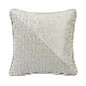 Wilshire Light Grey 16 x 16 In. Throw Pillow