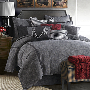 Hamilton Grey Super Queen Four-Piece Comforter Set