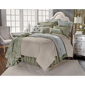 Luxury Arlington Green Super King Four-Piece Bedding Set