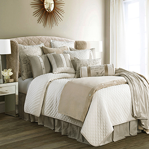 Fairfield Sand Super King Four-Piece Coverlet Set