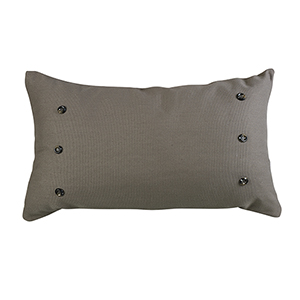 Piedmont Taupe Grey 21 x 34 In. Throw Pillow