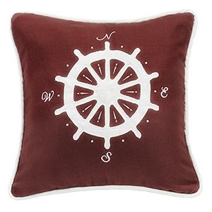 Monterrey Red Compass 18 x 18 In. Throw Pillow