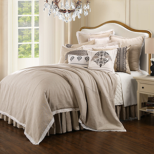 Charlotte Cream Super Queen Four-Piece Comforter Set