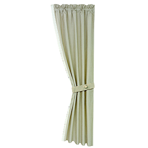Charlotte Cream 48 x 108-Inch Curtain Single Panel With Lace Detail