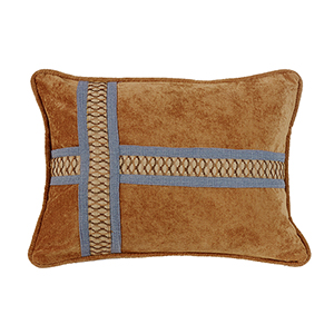 Lexington Copper and Blue 16 x 21 In. Throw Pillow